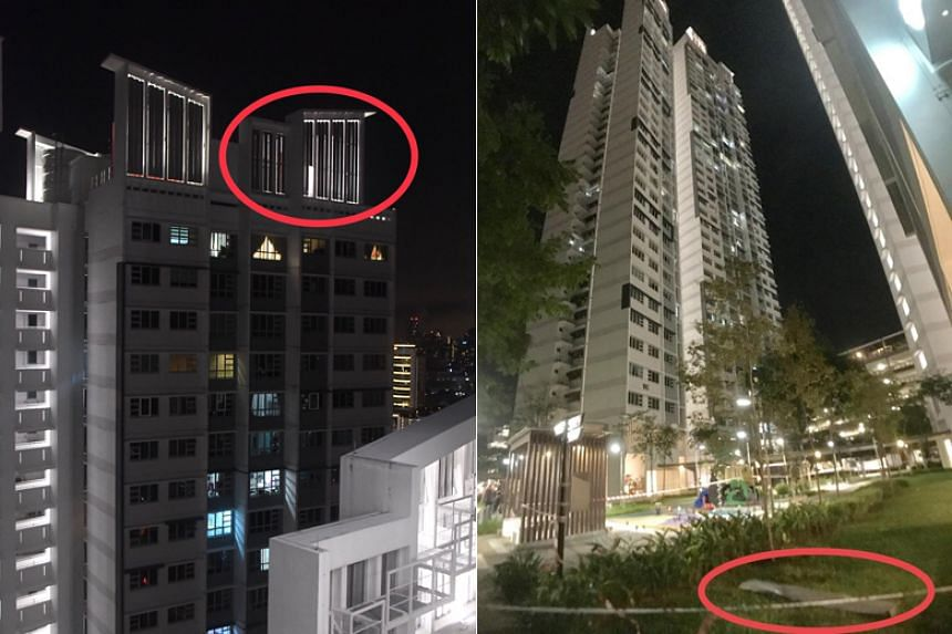 The ground floor area beneath the block has been cordoned off, while checks on neighbouring blocks with similar facade features have been conducted as a precautionary measure.