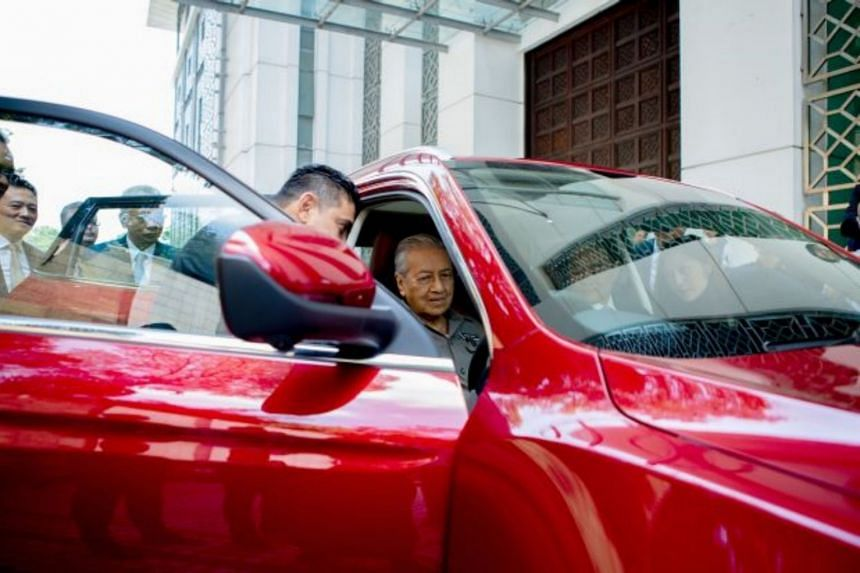 Malaysia's Prime Minister Mahathir Mohamad gave the thumbs up to Proton's SUV, saying it's very good and of high quality.