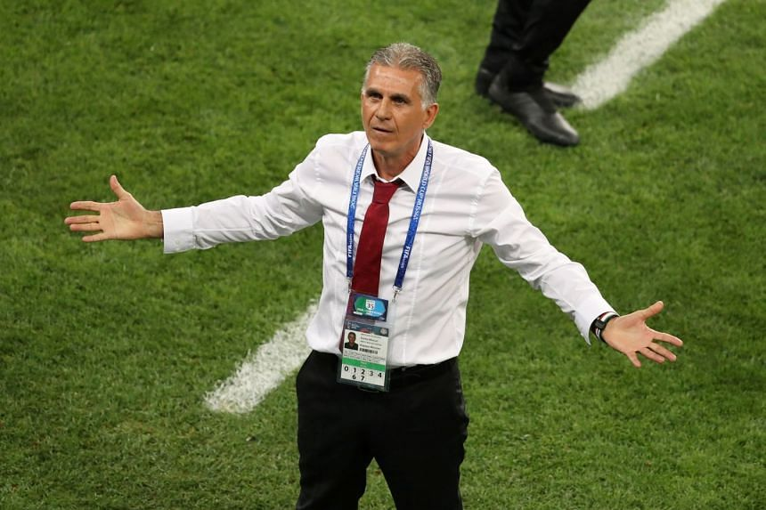 Iran coach Carlos Queiroz (pictured) insisted Cristiano Ronaldo deserved to be sent off for catching Iran defender Morteza Pouraliganji with an elbow to the face.