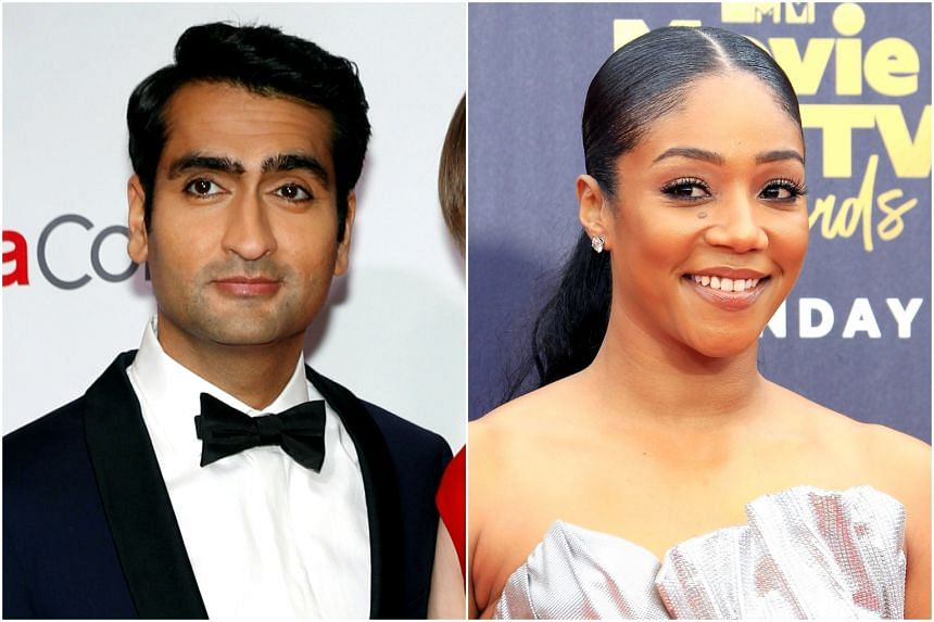 Kumail Nanjiani and Tiffany Haddish, who are among the 928 personalities invited to join the Oscars group.