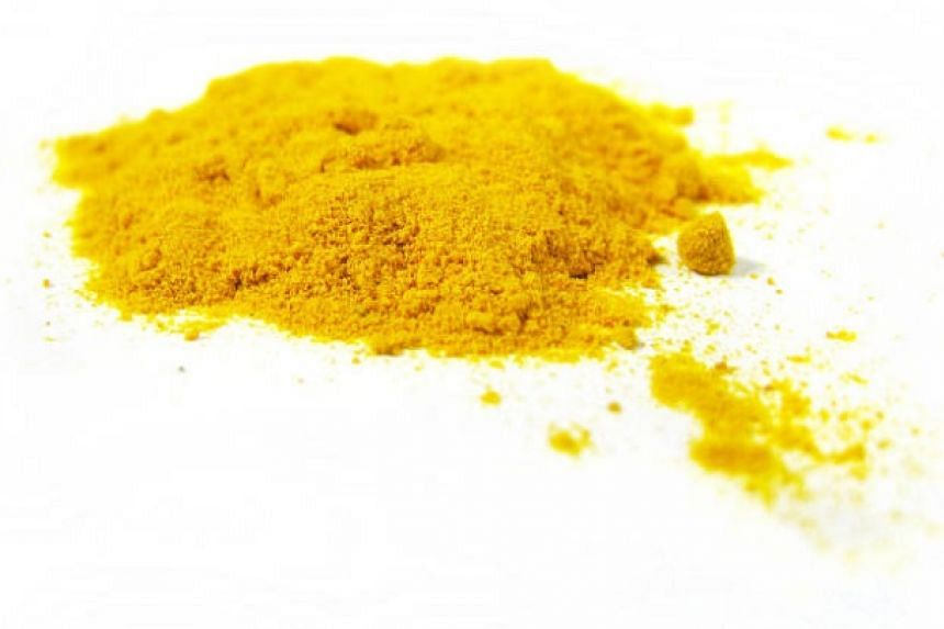 Turmeric powder (above) can be paired with red chilli powder to make a seasoning for food.