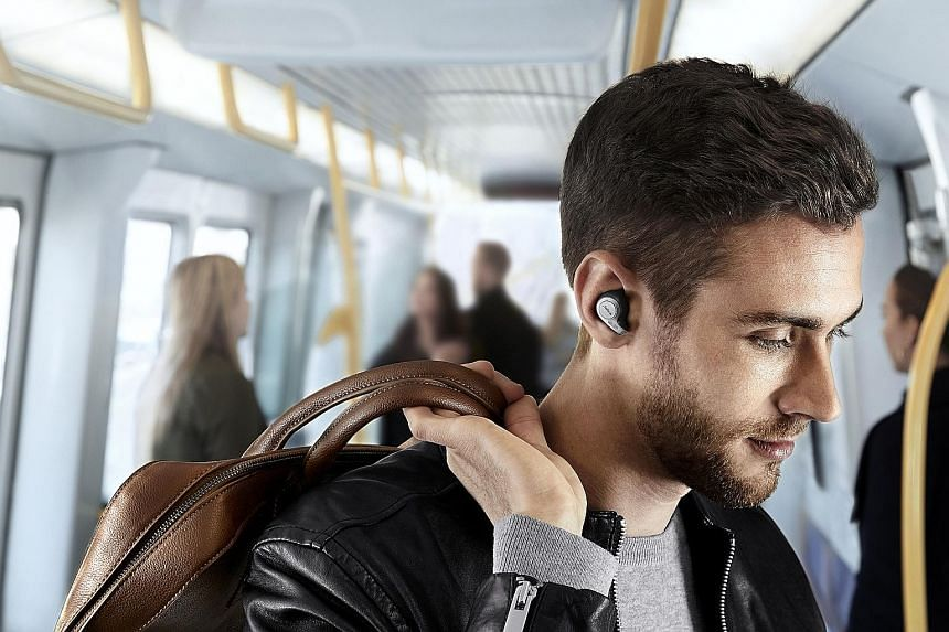 The Jabra Elite 65t wireless earbuds provide clear and powerful music playback, with no distortion at safe listening volumes.