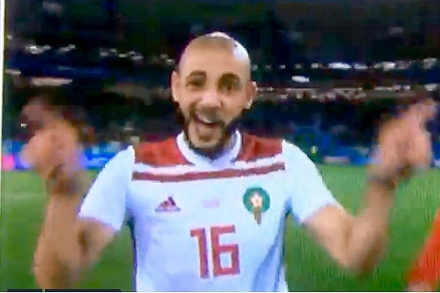 MEME-ORABLE #2 If teams at the World Cup were in a WhatsApp group. CAUGHT ON CAMERA Morocco's midfielder Nordin Amrabat offering his opinion on the VAR after their game against Spain. WATCH: bit.ly/2tFw7tJ MEME-ORABLE #1 If you ever wondered why VAR