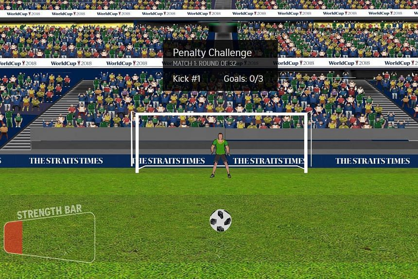 Use a VR headset or viewer to get a fuller, more immersive experience in ST's Fifa World Cup penalty-kick challenge.