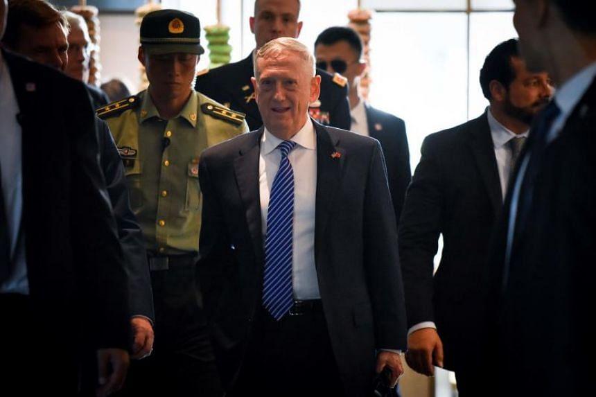 US Secretary of Defense James Mattis arrives at a hotel in Beijing on June 26, 2018.
