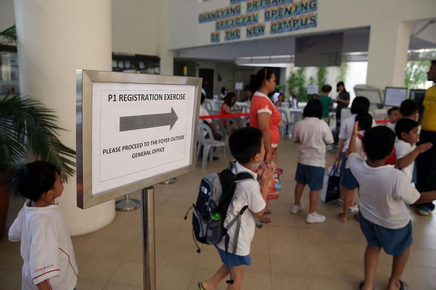 """Calling the Primary 1 registration exercise """"a milestone"""" for parents to prepare their children for their education journey, Education Minister Ong Ye Kung encouraged them to choose schools suited to their children's strengths and interests."""