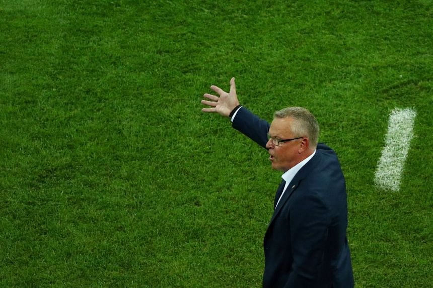Sweden coach Janne Andersson reacting to Germany's win during the World Cup Group F football match in Sochi, Russia, on June 23, 2018.