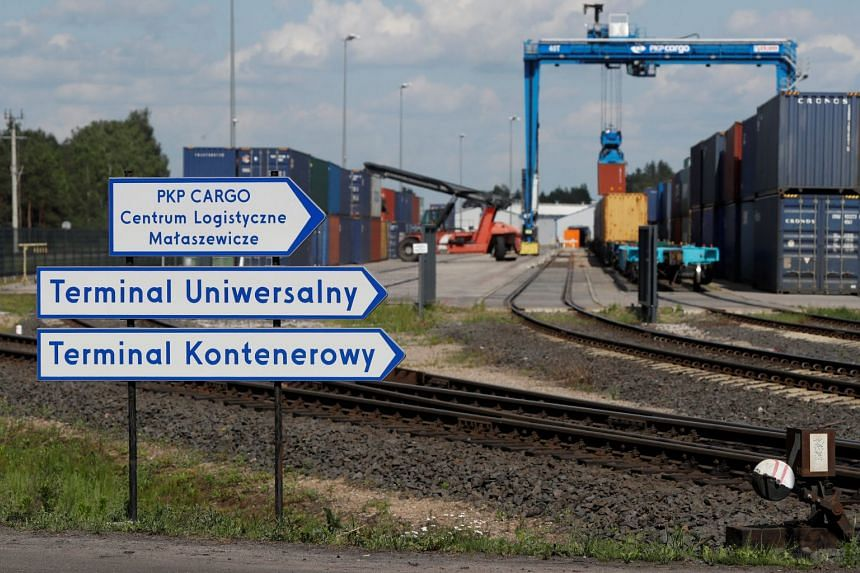 On a visit to Malaszewicze, reporters found shipping containers emblazoned with the China Railway Express logo stacked up in rail terminals, as well as new roads and a local government headquarters.