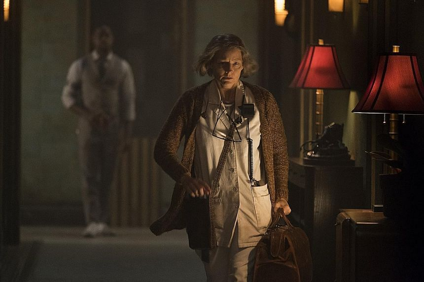 Jodie Foster plays a nurse at a hospital for criminals in Hotel Artemis.
