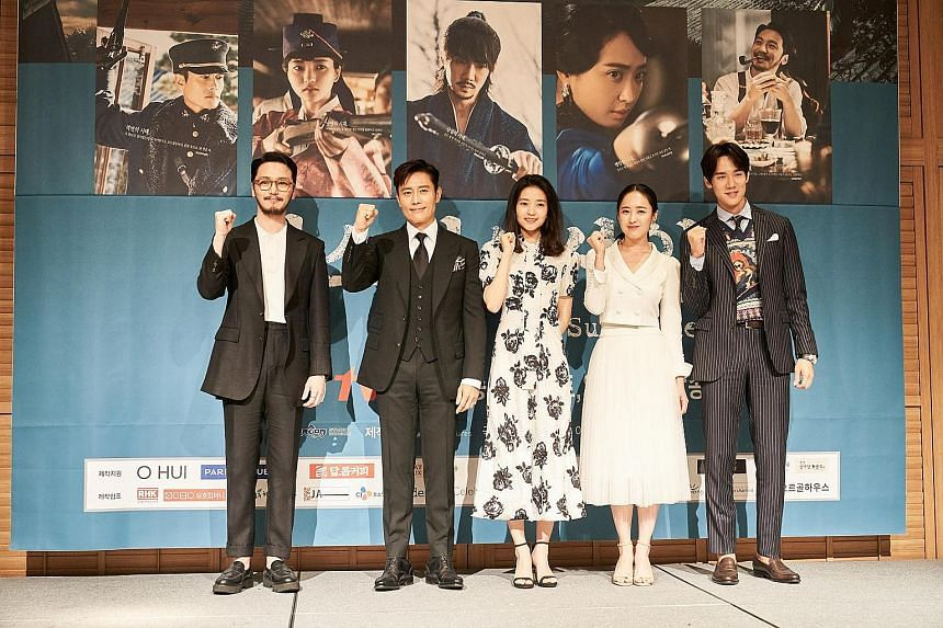 Mr Sunshine stars (from far left) Byun Yo Han, Lee Byung Hun, Kim Tae Ri, Kim Min Jung and Yoo Yeon Seok.