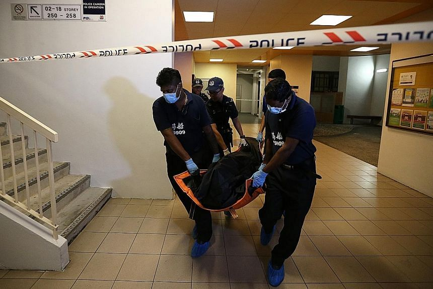 Police responded after a call for help at about 3pm on Monday and found Ms Mehrotra Shashi lying motionless in her Chua Chu Kang home when they arrived at the unit. Paramedics pronounced her dead half an hour later.