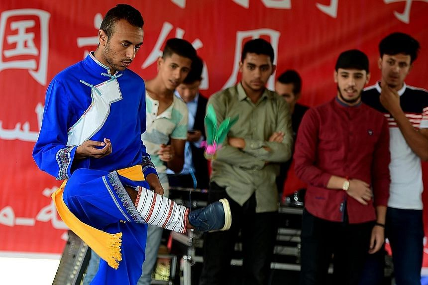 Students in Ismailia, in north-eastern Egypt, taking part in cultural activities organised by the Confucius Institute at the Suez Canal University as part of a Chinese cultural week last October.