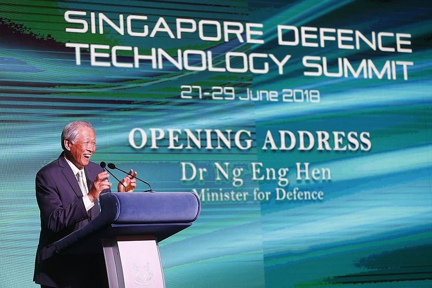 """Defence Minister Ng Eng Hen told delegates at the summit yesterday that he hopes Singapore can provide a """"safe physical and intellectual haven"""" for new paths to be forged."""