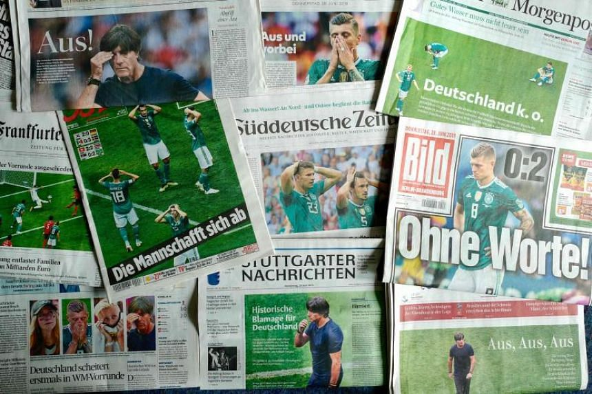 German newspapers fused the fates of national team coach Joachim Low and Chancellor Angela Merkel following the country's shock humiliation in the World Cup.