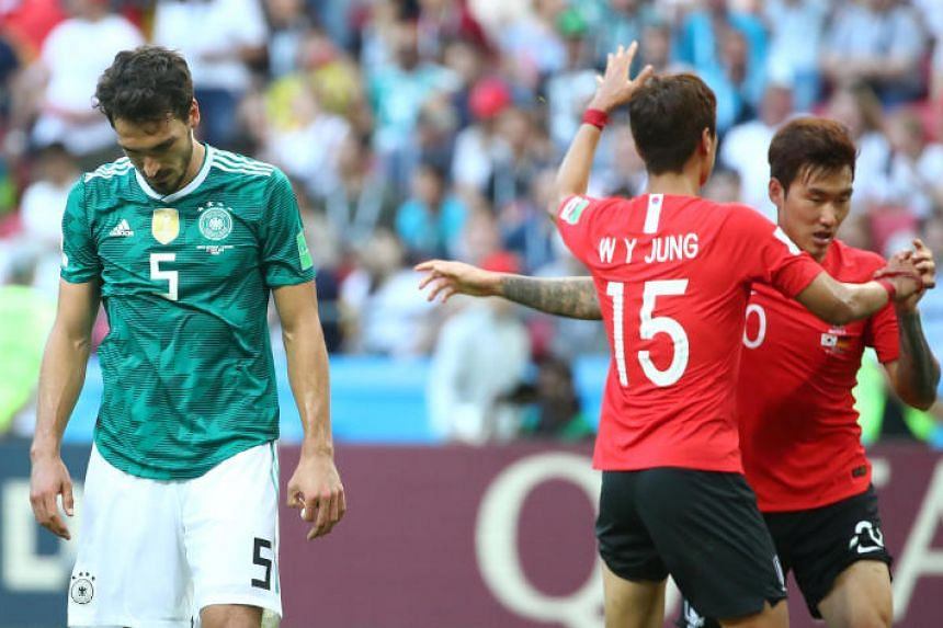 Germany's Mats Hummels looks dejected during the match at the Kazan Arena, Kazan, Russia, on June 27, 2018.
