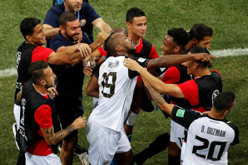 Kandall Waston's (centre) goal against Switzerland on June 27, 2018, in the 56th minute was Costa Rica's first of the 2018 World Cup. This means all 32 teams have gotten on the scoresheet.