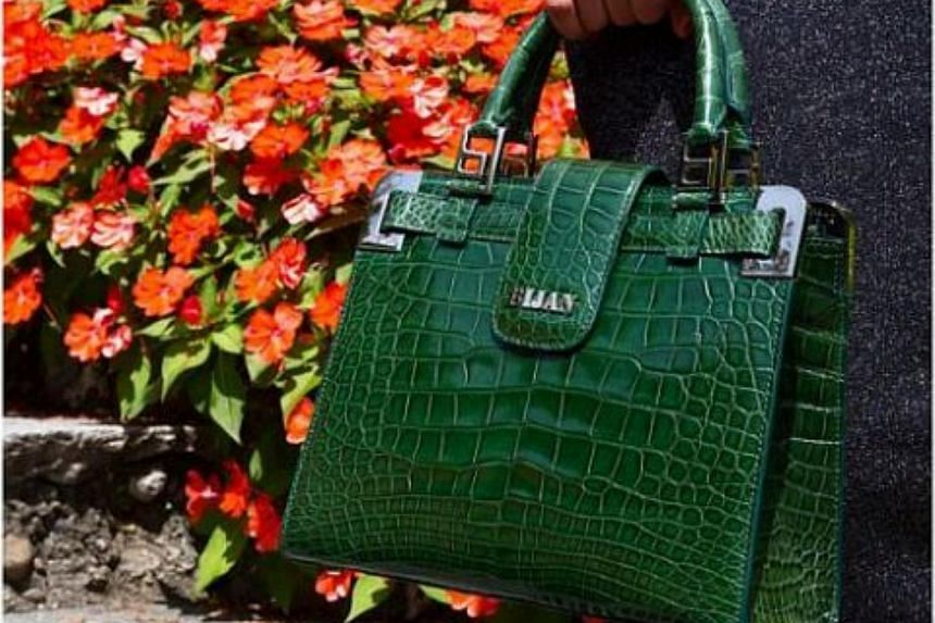 866fe742df A luxury Bijan bag uses only the finest materials such as crocodile skin