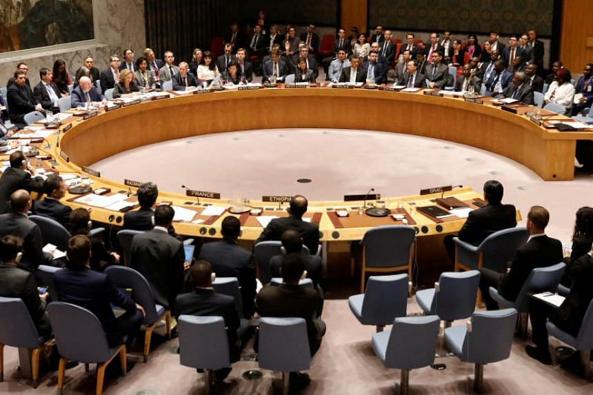 File photo showing a United Nations Security Council meeting at the organisation's headquarters in Manhattan, New York, on June 1, 2018.