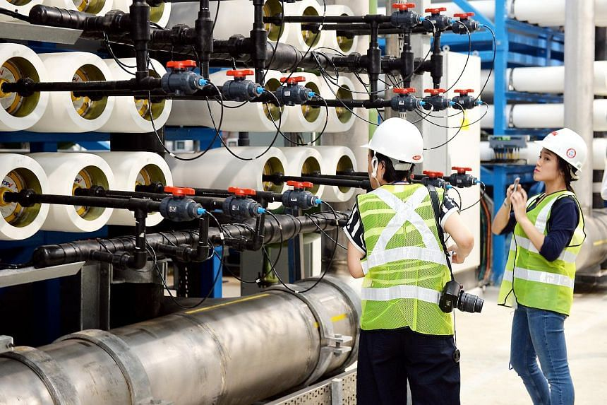 The new Tuas Desalination Plant.