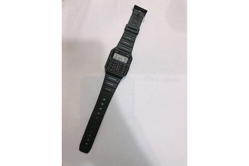 Ms Brillyn Toh owns only digital watches and one of them is the Casio Calculator Watch.