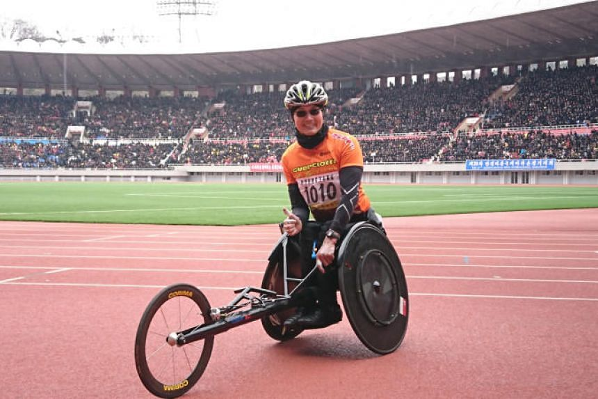 Paralympian William Tan hopes his participation in the Gold Coast Marathon will pave the way for marathon wheelchair racing to return to Singapore and inspire seniors to be active.