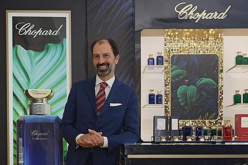 Mr Patrizio Stella, chief executive of Chopard Parfums, says its new range of perfumes will be made from responsibly sourced natural ingredients.