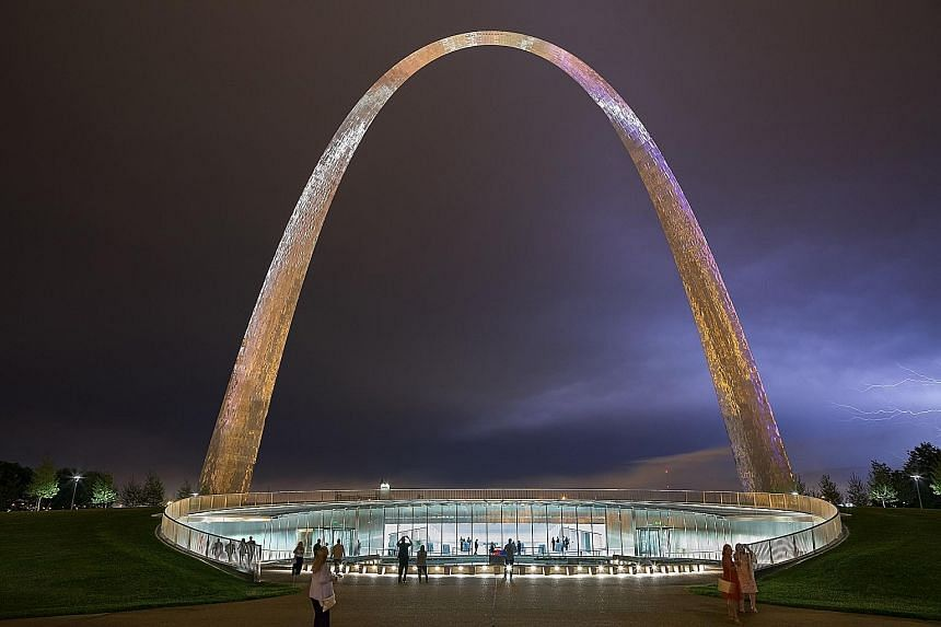 The Gateway Arch National Park has, among other new features, a sleek underground entrance facing the city and an expanded and redesigned visitor centre and museum.