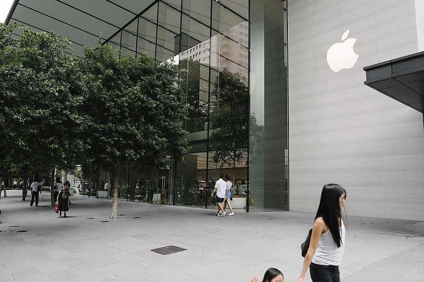 Stores like (clockwise from left) Muji and the Apple Store offer more than shopping, while Sephora launched a mobile app that adds experience into digital shopping by letting shoppers try on make-up virtually.