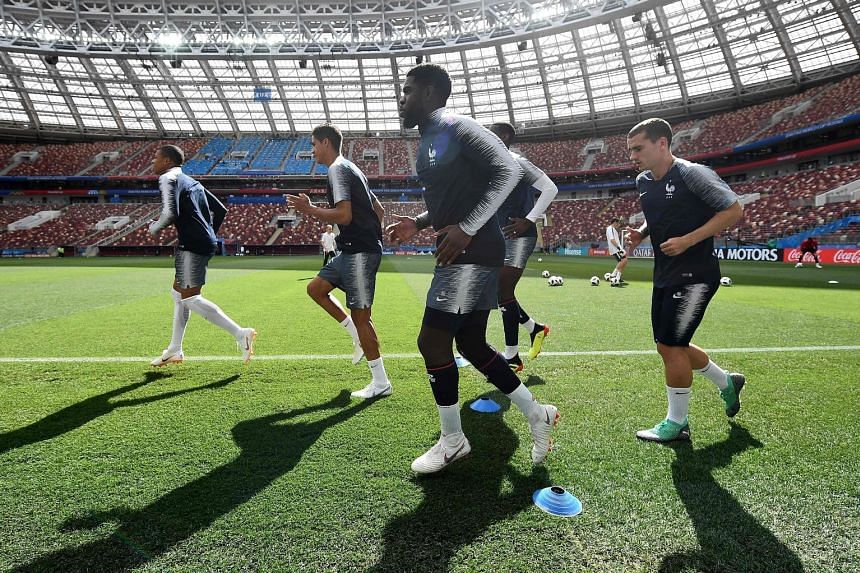 France defender Samuel Umtiti (centre), who plays alongside Lionel Messi at the Nou Camp, says the forward cannot be expected to replicate his heroics for Barcelona in what has been a misfiring Argentina side at this World Cup.