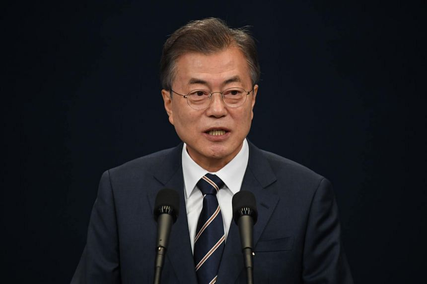 South Korea's President Moon Jae-in credited the deterrent provided by the US-South Korea alliance for the Korean peninsula's recent steps towards denuclearisation.