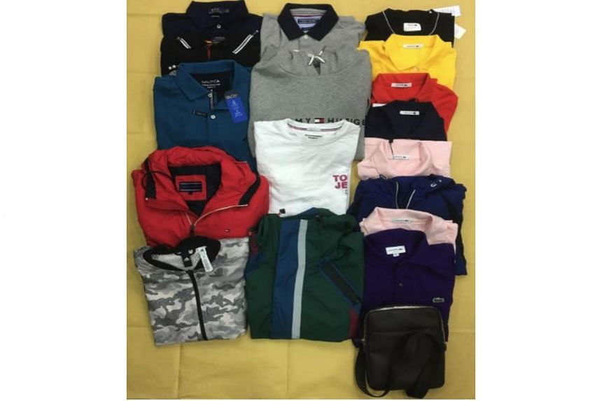 More than $3,000 worth of apparel were seized from the boys after their arrest on June 28, 2018.