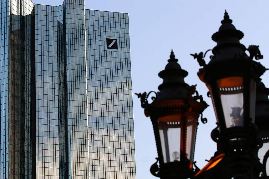 "Deutsche Bank's headquarters in Frankfurt. Of the 18 domestic and foreign banks that faced the qualitative section of the Fed's exam, Deutsche Bank was the only one to receive an objection. The Fed found ""widespread and critical deficiencies across t"