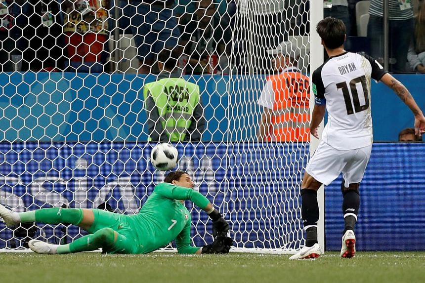 Switzerland goalkeeper Yann Sommer scoring an unfortunate own goal against Costa Rica. Bryan Ruiz's stoppage-time penalty crashed against the bar, only for the ball to hit the custodian and rebound into the net. The Group E decider finished 2-2 on We