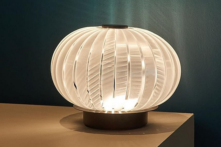 """Singaporean Edmund Zhang, Wallpaper* Handmade's Next Generation Designer, will unveil a lamp called the """"Wobble Lantern"""" (above), which he made with Italian manufacturer Slamp."""