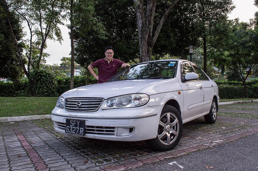 Dr Colin Low renewed the COE of his Nissan Sunny in 2015 for 10 years and calls it the Old Dame.