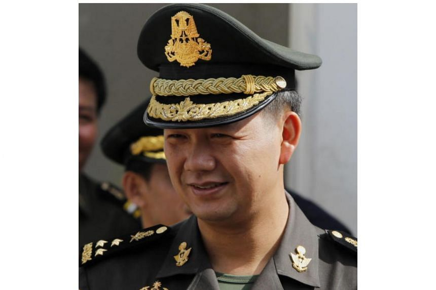 Lieutenant General Hun Manet (pictured), the son of Cambodia's Prime Minister Hun Sen, was promoted to acting chief of joint staff and commander of army headquarters, according to a Defence Ministry spokesman.