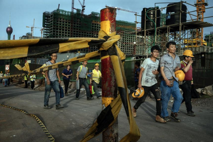 Chinese construction workers in Colombo. New governments in places such as Malaysia and Sri Lanka have questioned why their predecessors borrowed so much from Beijing.
