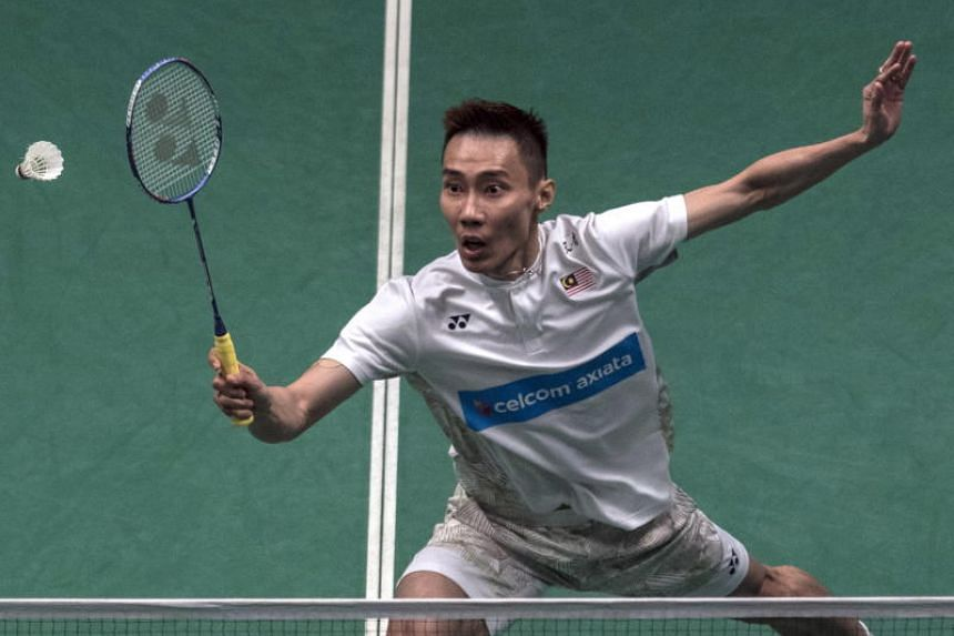 Lee Chong Wei of Malaysia in action during men's semi-finals match against Tommy Sugiarto (not pictured) of Indonesia at the Malaysia Open in Kuala Lumpur on June 30, 2018.