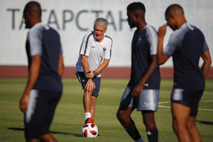 France head coach Didier Deschamps during a training session in Kazan, Russian Federation, on June 29, 2018.