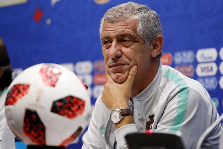 Portugal head coach Fernando Santos during a press conference at Fisht Stadium in Adler Sochi, Russia, on June 29, 2018. Uruguay will face Portugal in their Fifa World Cup 2018 round of 16 soccer match on June 30, 2018 in Sochi.