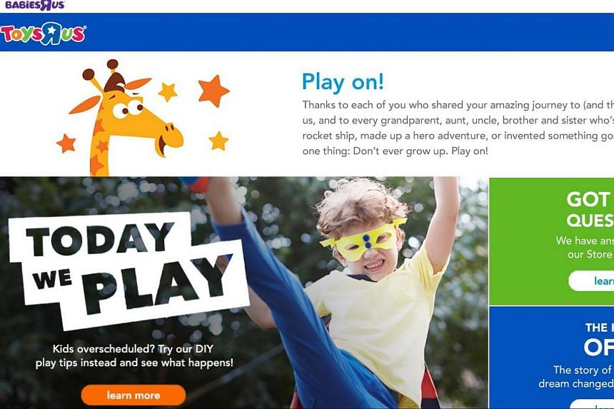 The farewell message to customers from Toys R Us.