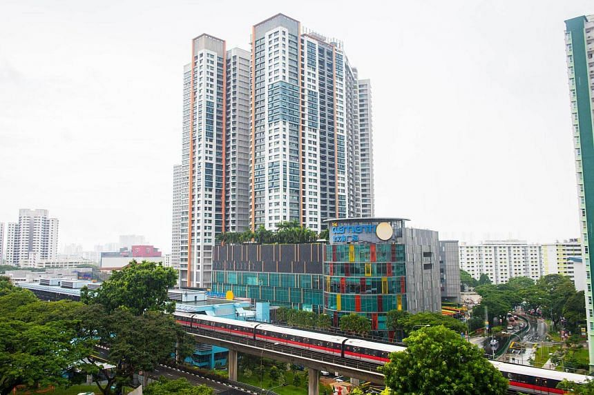 Clementi Towers, the first Housing Board project to be integrated with a mall, has flats selling above the million-dollar mark.