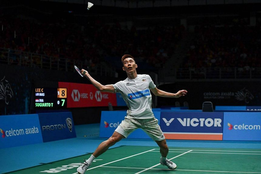 Lee Chong Wei eyes a return in his men's singles semi-final match at the Malaysia Open Badminton tournament in Kuala Lumpur, on June 30, 2018.