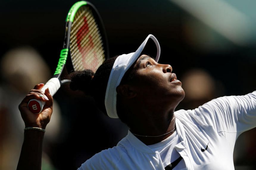 Serena Williams during practice on June 30, 2018.