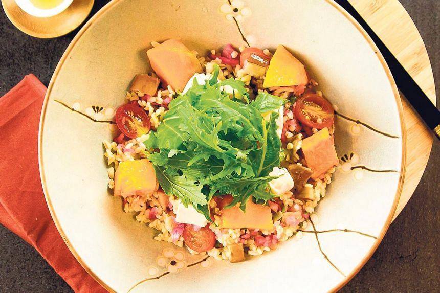Grain's tofu-powered tabbouleh.