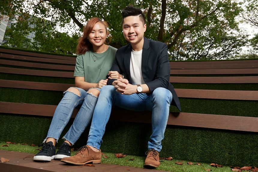 Entrepreneur and self-made millionaire Ong Jun Hao with his girlfriend and business partner, Samantha Lin. Mr Ong is also founder of cryptocurrency consulting company BlockConnectors, and co-founder of Japanese food business-cum-restaurant Kenboru at his