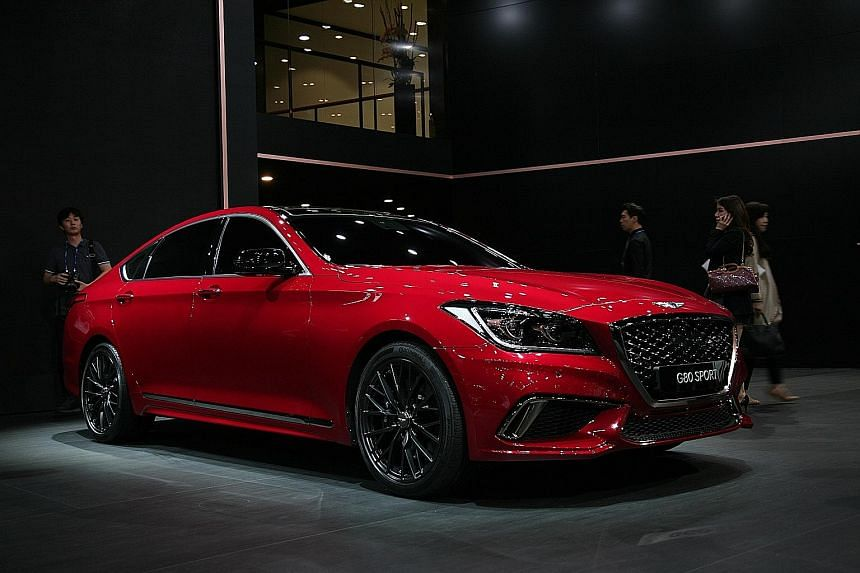Genesis, Hyundai's luxury line, ranked top in an annual study of new-car quality, with 68 problems reported per 100 vehicles.
