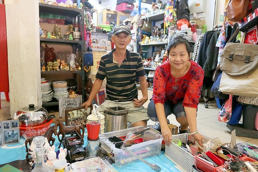 Mr Wong Choong Ho, 63, and his wife Tan Ai Hua, 63, run a stall selling second-hand goods in Telok Blangah Crescent. The former Sungei Road vendors say they make enough from the stall and their income is supplemented by money that their three childre
