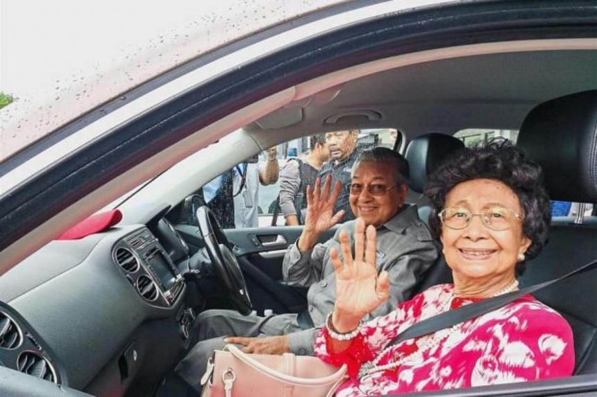 Malaysian Prime Minister Mahathir Mohamad and his wife Siti Hasmah Mohd Ali arrived in a brown Volkswagen Tiguanin in Jalan Mahawangsa, Kuah town, on July 1, to check out the Langkawi MP's new service centre.