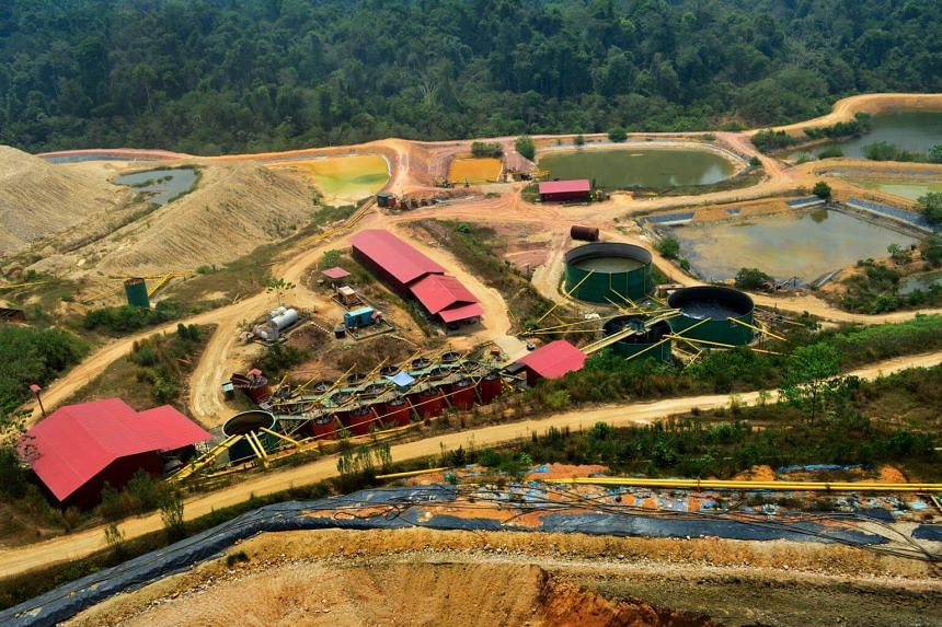 An aerial view of a section of the CNMC goldmine in Kelantan. CNMC Goldmine Holdings' flagship Sokor gold mine in Malaysia has produced 8,750 ounces of gold dore bars in the second quarter of 2018.